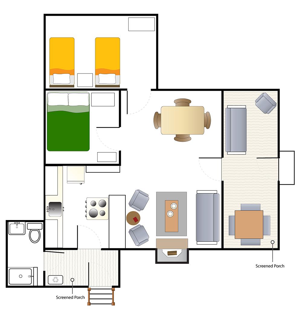Floorplan of the Shanty